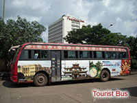 tourist bus at kolkata